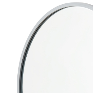 Close-up angle shot of grey rubber round mirror
