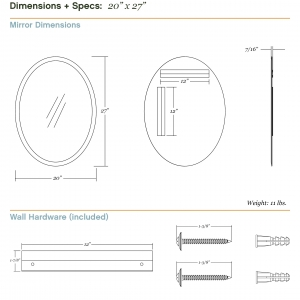 Dimensions/specs for size 20x27