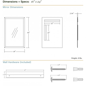 Dimensions/specs for size 16x24