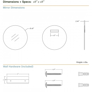 Dimensions/specs for size 18x18