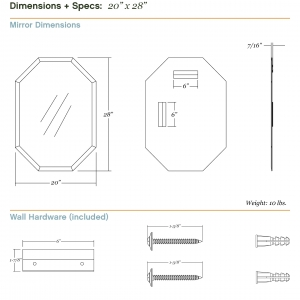 Dimensions/specs for size 20x28